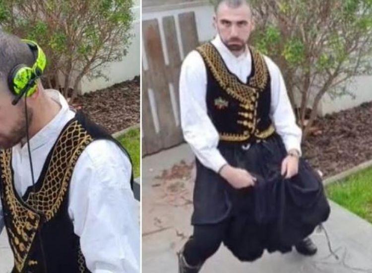 Αυγόρου: Dj παίζει μόνο κυπριακά τραγούδια με...παραδοσιακή στολή (ΒΙΝΤΕΟ)