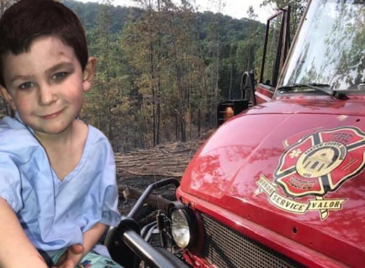 Ο 5χρονος Noah αψήφισε τις φλόγες και έσωσε την μικρή αδελφή του