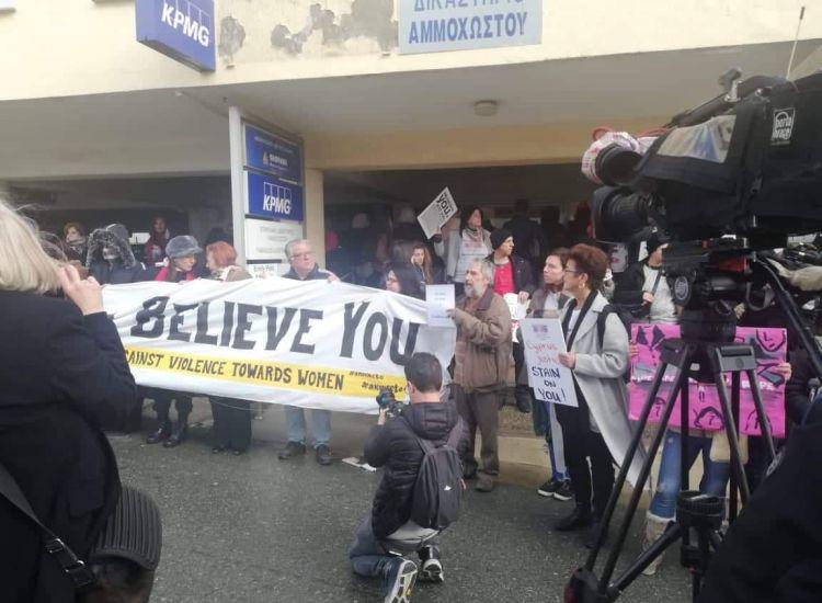 """Παραλίμνι: """"Κυπριακή Δικαιοσύνη ντροπή σου"""" φώναζαν οι διαμαρτυρόμενοι"""