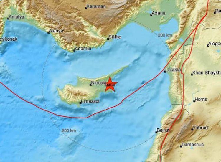 ΤΩΡΑ: Σεισμός στην επ. Αμμοχώστου