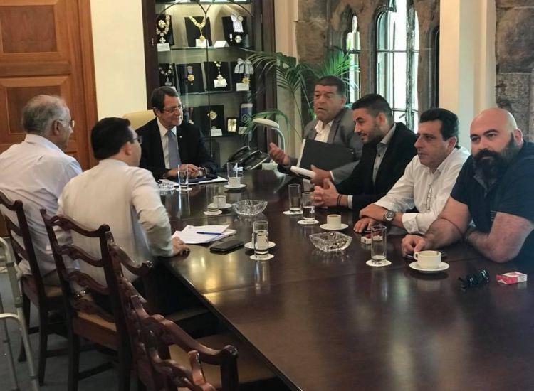 Στον πρόεδρο Αναστασιάδη ο δήμαρχος Παραλιμνίου και μέλη του Δημ. Συμβουλίου!