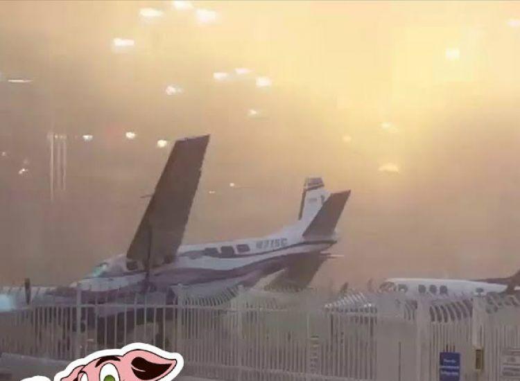Ο αέρας μετακίνησε το αεροπλάνο λες και να ήταν χάρτινο - VIDEO