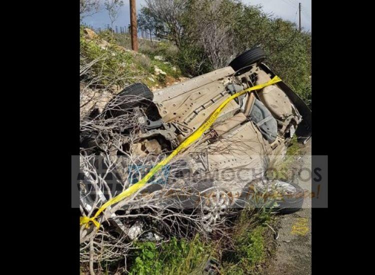 Αναποδογυρίστηκε αυτοκίνητο στον δρόμο Κάβο Γκρέκο - Αγίας Νάπας