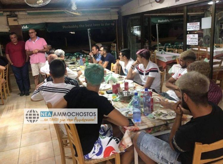 Δερύνεια: Δείπνο στους νεοσύλλεκτους παρέθεσε ο Δήμος