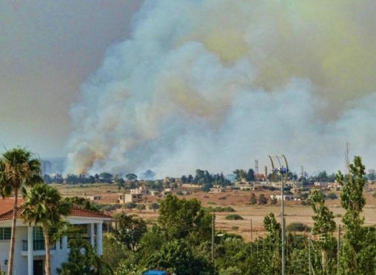Αμμόχωστος: Έτσι αντιμετωπίστηκε η πυρκαγιά στην νεκρή ζώνη