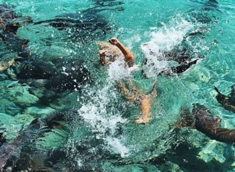 ΦΩΤΟΓΡΑΦΙΕΣ: 19χρονο μοντέλο κολύμπησε με καρχαρίες και της επιτέθηκαν