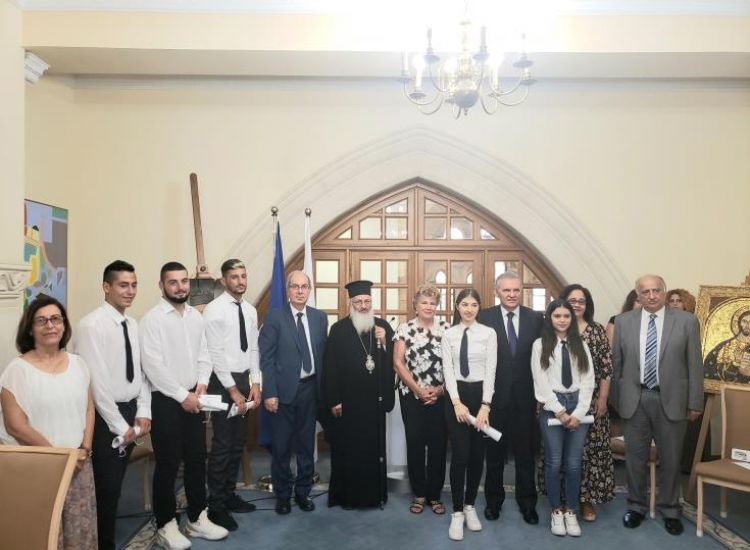 Τελετή αποφοίτησης για πέντε μαθητές του Γυμνασίου Ριζοκαρπάσου στο Προεδρικό Μέγαρο