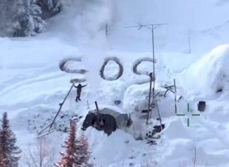 Άντρας κατάφερε να επιβιώσει 3 εβδομάδες στην Αλάσκα, γράφοντας κάθε μέρα SOS στο χιόνι