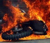 Αυτοκινητόδρομος Λάρνακας - Αγίας Νάπας: Μοτοσικλέτα τυλίχθηκε στις φλόγες