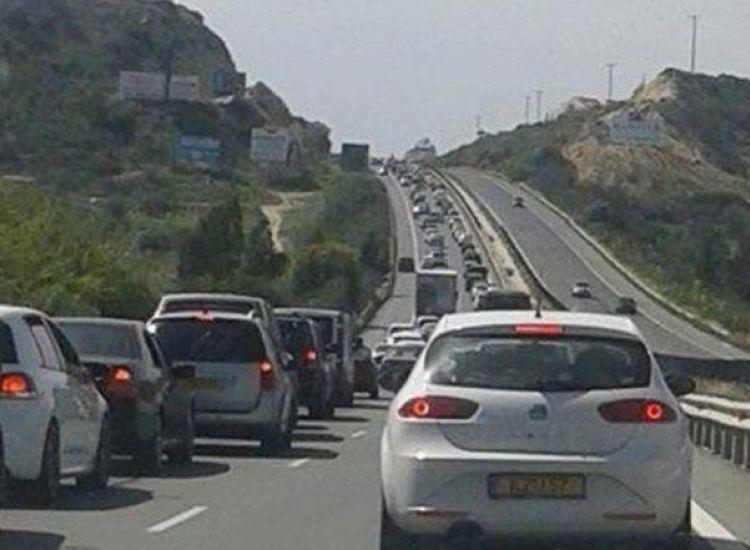 Αυξημένη κίνηση στον αυτοκινητόδρομο Αγίας Νάπας - Λάρνακας