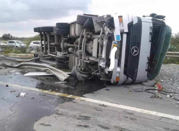 Λιοπέτρι: Δείτε τις φωτογραφίες του ατυχήματος
