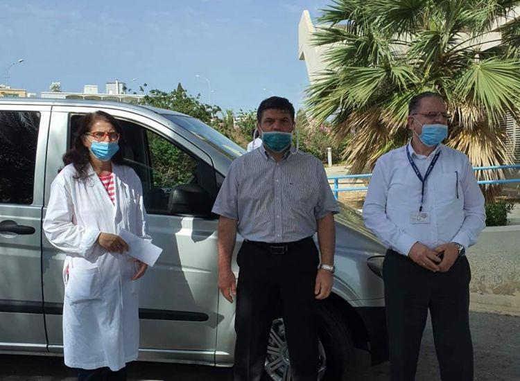 Επιστράφηκε το Minibus που παραχώρησε στο Γενικό Νοσοκομείο Αμμοχώστου η εταιρεία Attica