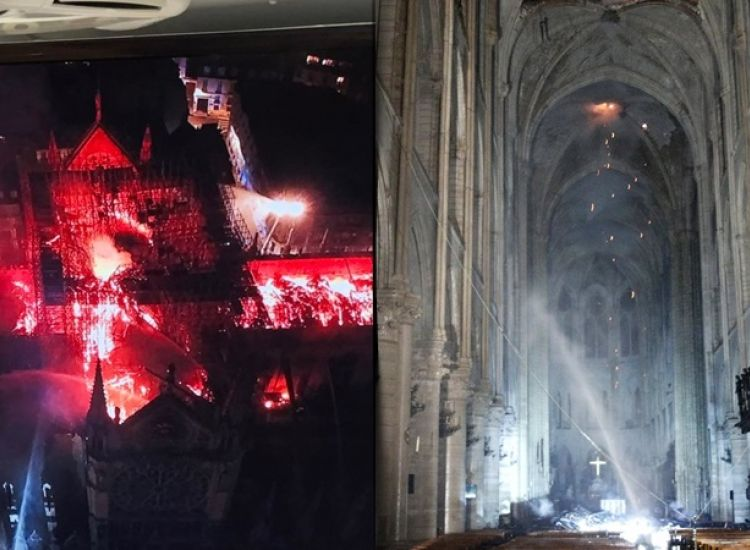 Οι πρώτες φωτογραφίες από το εσωτερικό της Παναγίας των Παρισίων