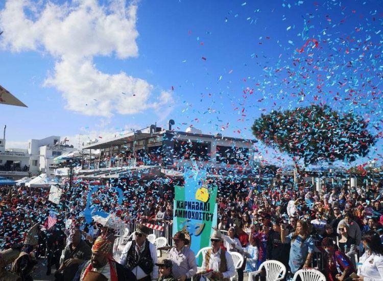 """Καρναβάλι Αμμοχώστου: """"Βούλιαξε"""" από κόσμο το Παραλίμνι"""